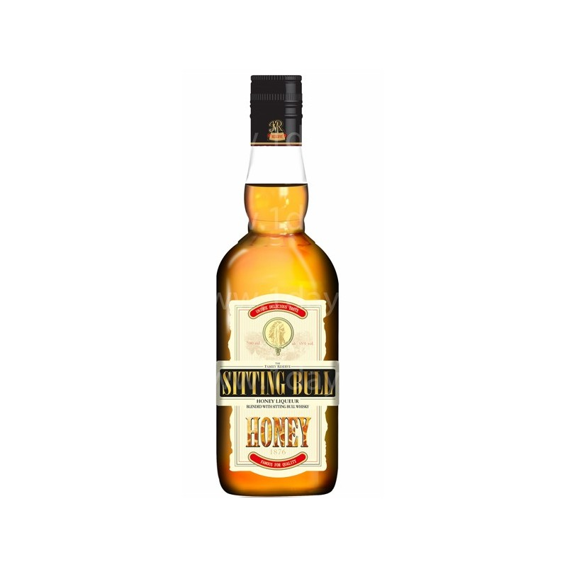 Whisky sitting bull honey miel 70 cl boissons for Cocktail whisky miel