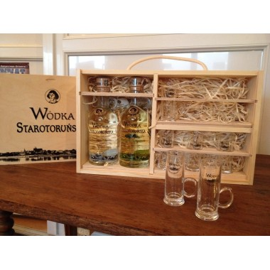 Coffret Vodka Starotorunska traditionnelle