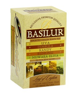 THE BASILUR / ASSORTED CEYLON BLACK TEAS (thé noir sachets) 40G
