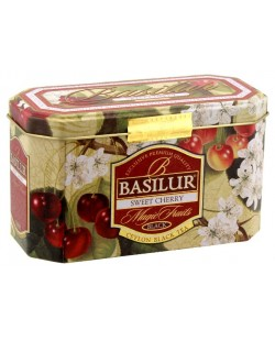THE BASILUR / MAGIC FRUITS / SWEET CHERRY ( thé noir en sachets) 40G