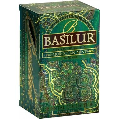 THE BASILUR / ORIENTAL COLLECTION / MOROCCAN MINT ( thé vert sachets)