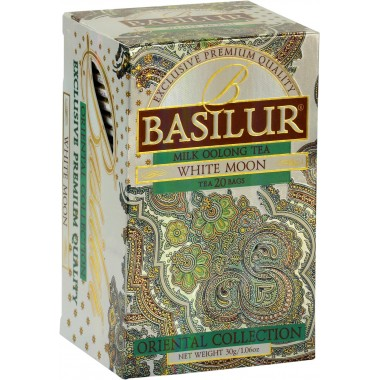 THE BASILUR / ORIENTAL COLLECTION / WHITE MOON (milk oolong thé vert sachets)