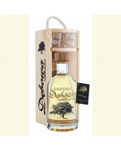 COFFRET VODKA DEBOWA GOLDEN OAK + 2 VERRES 70 CL