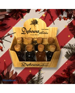 COFFRET ASSORTIMENT DE 8 MINIS VODKAS DEBOWA 5 CL